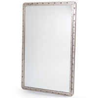 Riveted Nickel Industrial Mirror