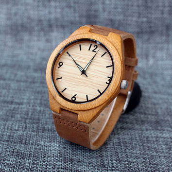 mens wood watch, wooden watch for men, birthday gift for dad, anniversary gift for men, chrismas gift for him, special birthday gift
