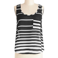 ModCloth Mid-length Sleeveless Grab Your Sketchbook Top