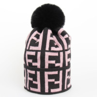 Fendi New Fashion Autumn And Winter More Letter Leisure Knit Couple Keep Warm Cap Hat