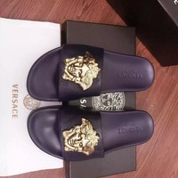 Gold VERSACE Slippers 002
