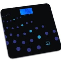 NewlineNY Auto Step On Comfort Edge Bathroom Scale-Trendy Wave, Big Display, SBB0868-TW