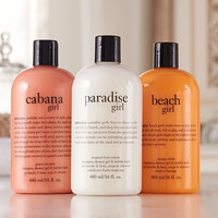 philosophy girls of summer shower gel trio Auto-Delivery - A269072 — QVC.com