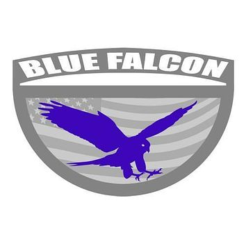 "Blue Falcon 4"" Sticker"