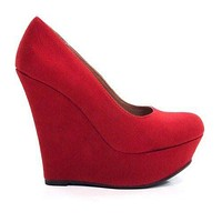 Meroz By Delicious, Women's Professional Pump Platform Wedge By Delicious Shoe
