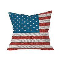 Old Glory Outdoor Throw Pillow