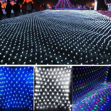 2M x 2M 144 Led Bulbs Net Fairy Lights For Xmas Party Wedding Outdoor Decoration  W_L SV008166 = 1933089668