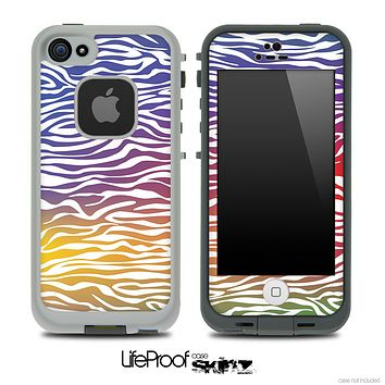Colorful Zebra Print Skin for the iPhone 5 or 4/4s LifeProof Case