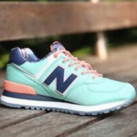 New Balance 2018 new breathable shoes lovers running shoes Mint Green