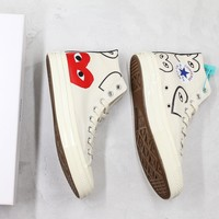 Comme Des Garcons X Converse Chuck Taylor All Star Cdg With Love Print Hi Sneakers - Best Online Sale