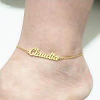 Personalized ankle bracelet