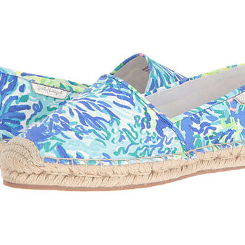 Lilly Pulitzer Lia Espadrille Brilliant Blue Wade and Sea - Zappos.com Free Shipping BOTH Ways