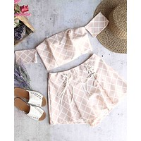 When in Rome Two Piece Set in Blush