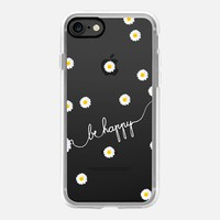 HAPPY DAISY CRYSTAL CLEAR iPhone 7 Hülle by Monika Strigel | Casetify