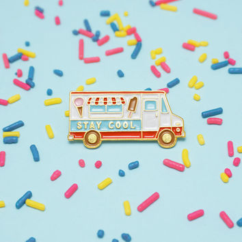 Stay Cool Ice Cream Truck Enamel Pin