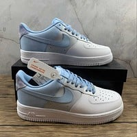 Morechoice Tuhy Nike Air Force 1 07 Lv8 Psychic Blue Low Sneakers Casual Skaet Shoes CZ0337-400