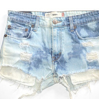 Dip Dyed Levi's High Waisted Shorts