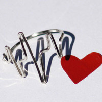 Heartbeat Ring in Sterling Silver