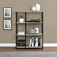Contemporary 3-Shelf Bookcase Living Room Furniture Laminated Sonoma Oak Finish