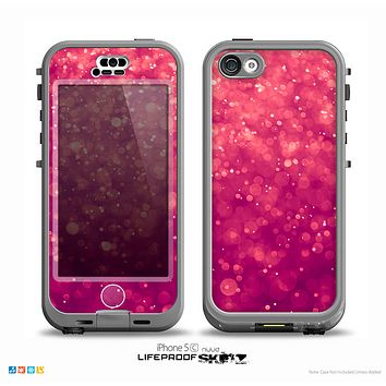 The Unfocused Pink Glimmer Skin for the iPhone 5c nüüd LifeProof Case