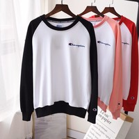 Champion Retro Round neck Pullover Sweatshirt