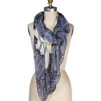 BlueIvory Lace Printed Scarf