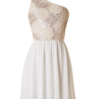 Subtle Sparkle Dress - Ivory