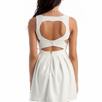 textured cut-out dress $42.00 in DKCORAL TEAL WHITE - Dressy | GoJane.com