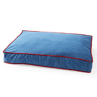 Reversible Embossed Pet Bed, Denim/Red, Pet Beds