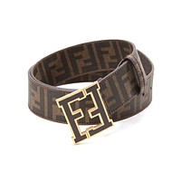 FENDI Stylish Woman Men Simple Smooth Buckle Belt Leather Belt I-A-GFPDPF