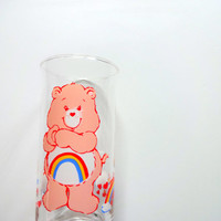 Vintage Cheer Bear Care Bear Drinking Glass 1983