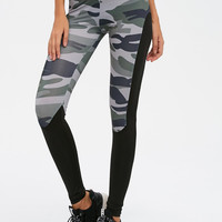 Ladies Women's Fashion Camouflage Patchwork Gym Leggings [10320564102]