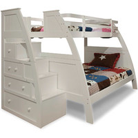 Walmart: Canwood Overland Twin over Full Bunk Bed with Built in Stair Drawers, White