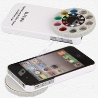 White Special Lens + Filter Turret for Apple iPhone 4 4s