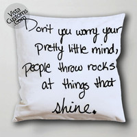 qitem taylor swift 2 pillow case, cushion cover ( 1 or 2 Side Print With Size 16, 18, 20, 26, 30, 36 inch )