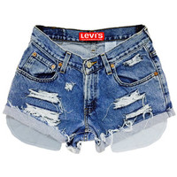 Levis Shorts High Waisted Cutoffs Denim Cheeky All Sizes Xs S M L Xl Xxl