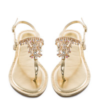 Crystal Cali Sandals - Gold
