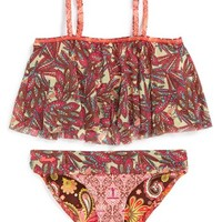 Maaji 'Sparkling Waves' Two-Piece Swimsuit (Big Girls)(Online Only)