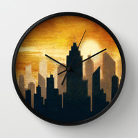 City Sunset Wall Clock by Tjc555