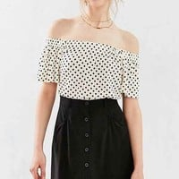 Cooperative Sally Button-Front Mini Skirt