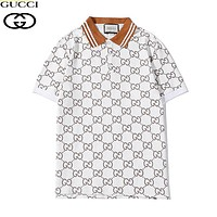 GUCCI New fashion more letter print couple top t-shirt White