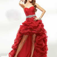 Fashion A-line Sweetheart Neckline Floor Length Organza Prom Dress  from SinoSpecial