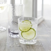 Hammered-Acrylic Double Old Fashioned Glasses, Set of 4 | Sur La Table