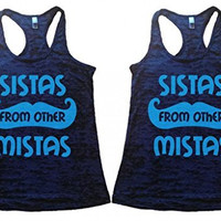 Shirts By Sarah Women's Best Friend Tank Tops Sistas From Other Mistas