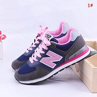 Alwayn New Balance New fashion Z letter mesh couple contrast color shoes 1#