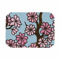 "Art Love Passion ""Cherry Blossom Day"" Floral Illustration Place Mat"
