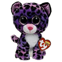 TY Beanie Boos - JEWEL the Purple Leopard (Glitter Eyes) (Regular Size - 6 inch) *Limited Excl.*: BBToyStore.com - Toys, Plush, Trading Cards, Action Figures & Games online retail store shop sale