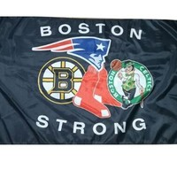 Boston Bruins AND Boston Red Sox AND Boston Celtics flag and New England Patriots 3x5ft custom Boston strong flag