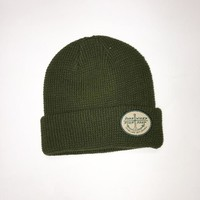 Bare Wires Waffle Knit Cuff Beanie