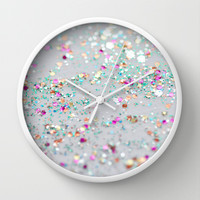 Surprise Party Wall Clock by Lisa Argyropoulos